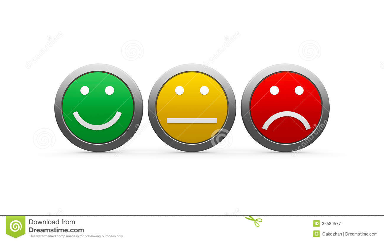 Positive Negative Neutral Icons Icons Emotions Royalty Free