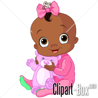 Related Black Baby Girl Cliparts