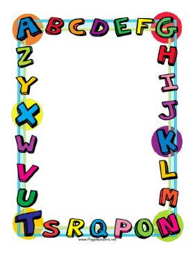 School   Education Theme Borders   Pinterest   Alphabet Page Borders