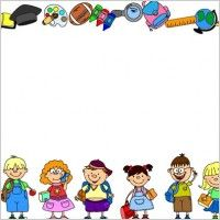School Theme Border Clipart   School Borders For Word Documents Free
