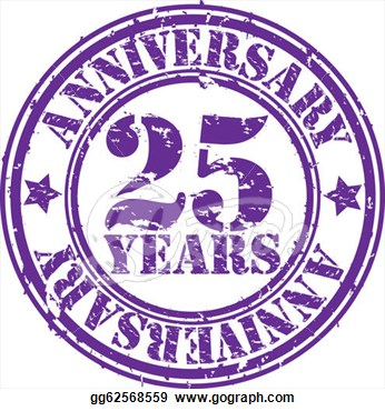 Stock Illustration   Grunge 25 Years Anniversary Rubber Stamp Vector