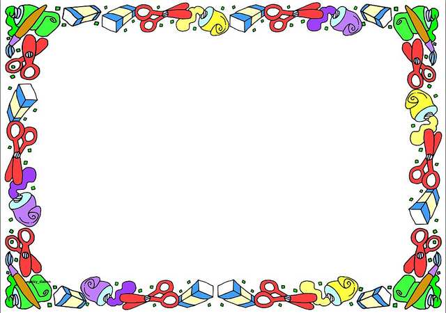School Theme Page Boarder Clipart - Clipart Kid
