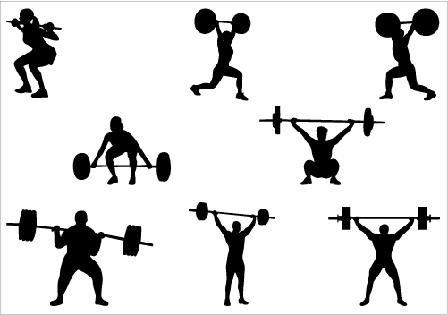 Weight Lifting Women Clip Art Weight Lifting Silhouette