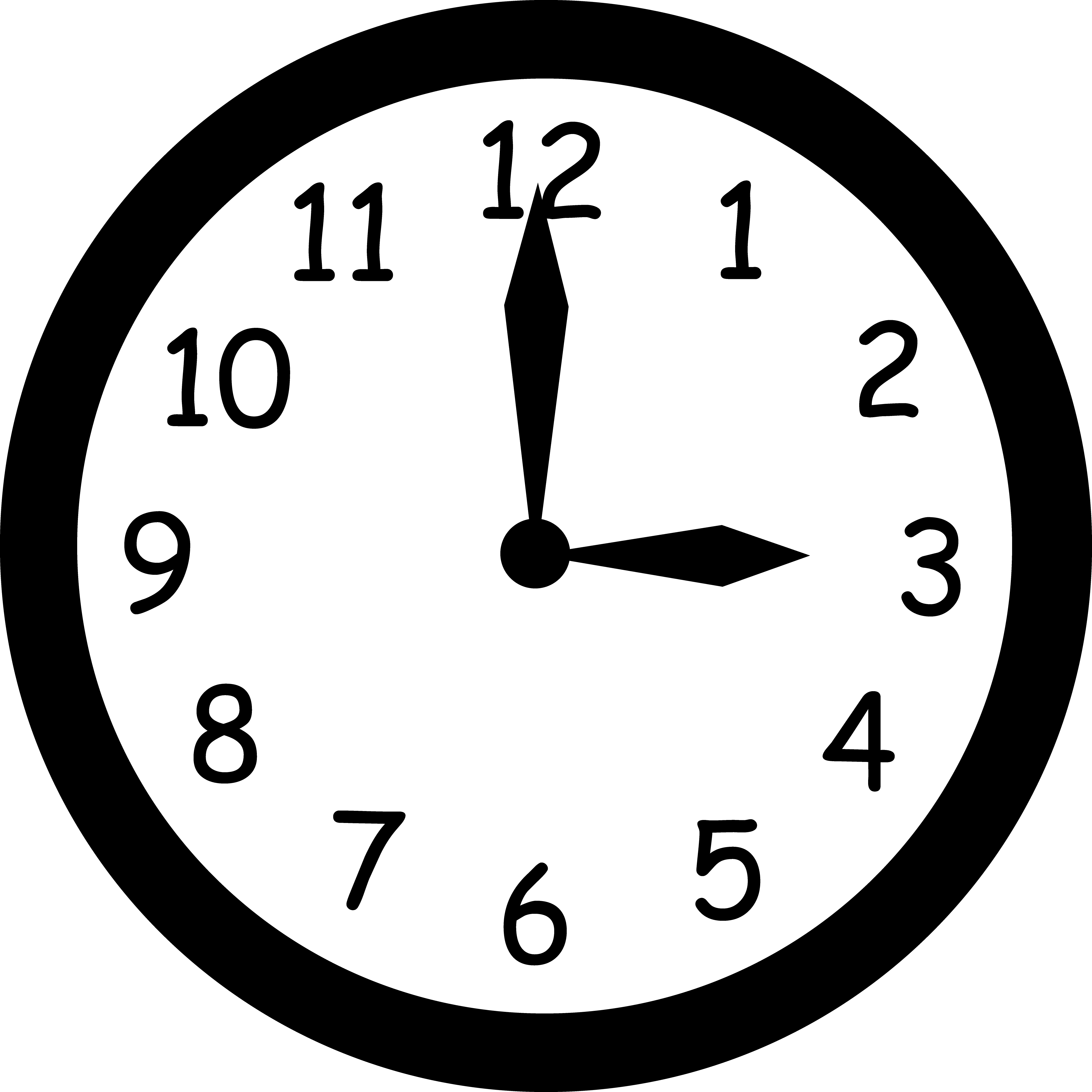 Analog Clock Clipart   Clipart Panda   Free Clipart Images