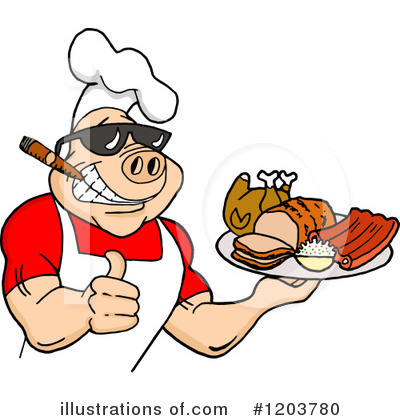 Bbq Graphics Illustrationsof Royalty Free