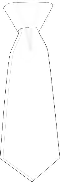Black Outline White Tie Clip Art At Clker Com   Vector Clip Art Online