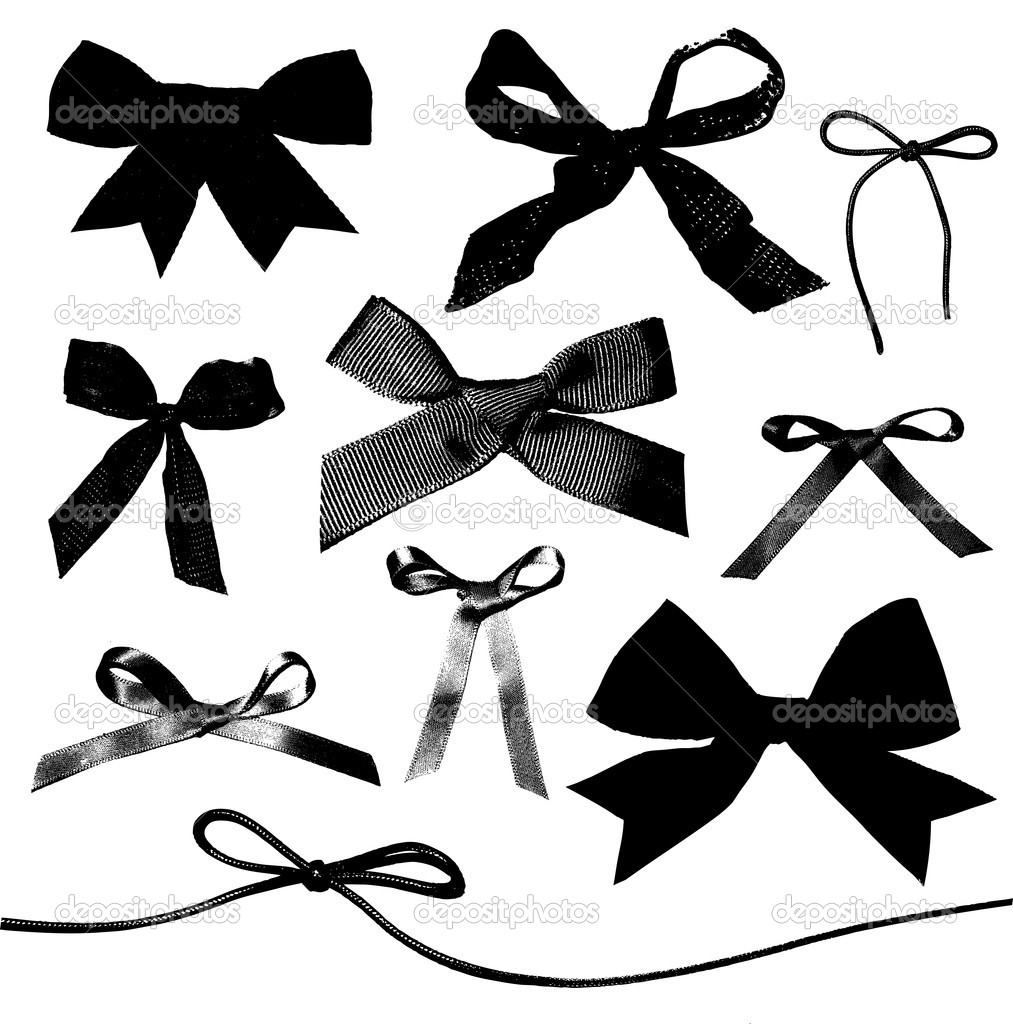 Clip Art Black And White Ribbons And Bows Clipart - Clipart Kid
