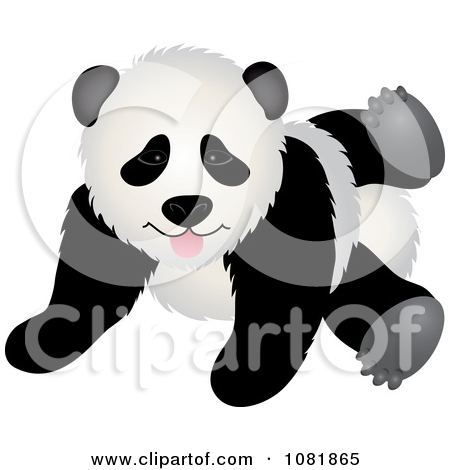 Clipart Cute Playful Panda Bear   Royalty Free Vector Illustration By