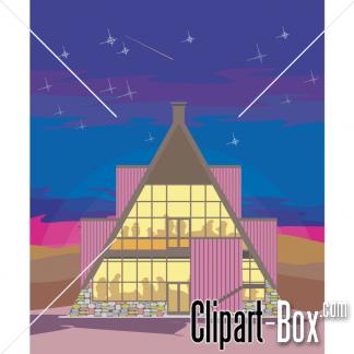 Clipart Design House   Royalty Free Vector Design