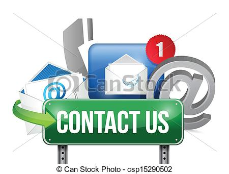 Contact Us Sign And Concept Illustration Design   Csp15290502