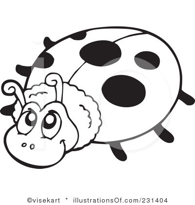 Cute Ladybug Clipart Black And White Clipart Ladybird Black And