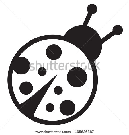 Cute Ladybug Black And White Clipart - Clipart Kid