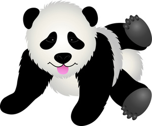 Playful Pandas Clip Art