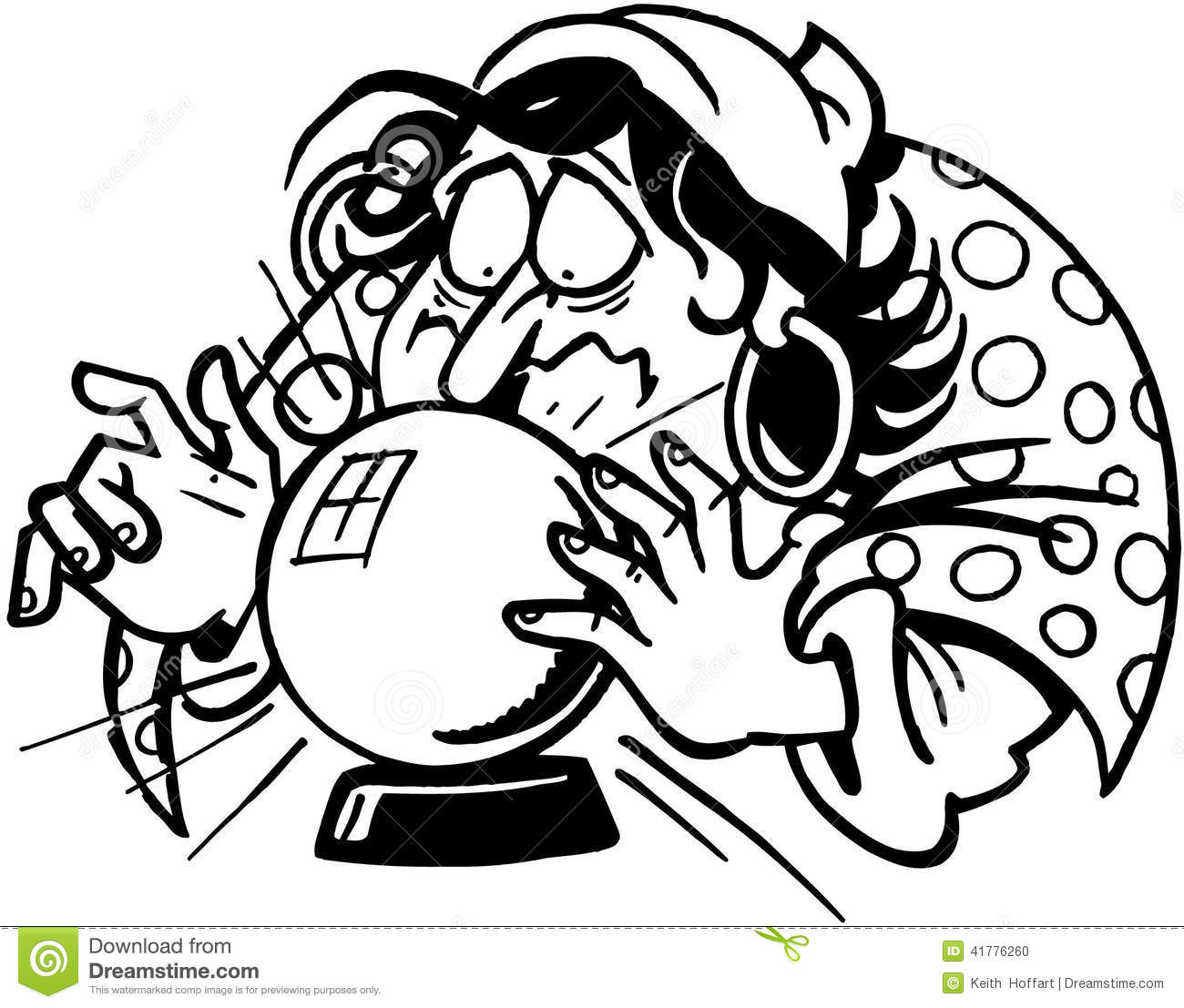 Fortune Teller Cartoon Vector Clipart Created In Adobe Illustrator In