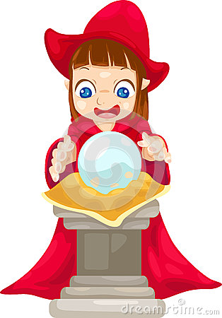 Fortune Teller With Crystal Ball Vector Stock Photo   Image  25207760