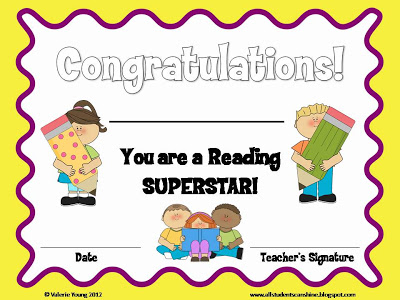 Have Been Reading I Ll Be Giving My Students This Reading Certificate
