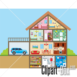 Home Design On Clipart House Cutout Royalty Free Vector Design
