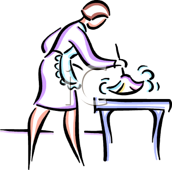 Maid Dusting Clipart - Clipart Kid