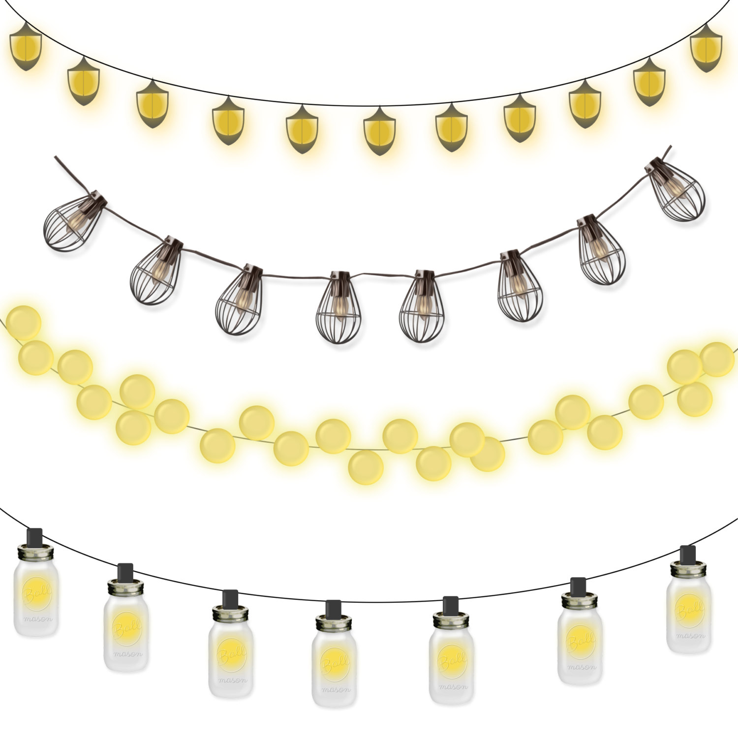 String Of Lights Clipart - Clipart Suggest