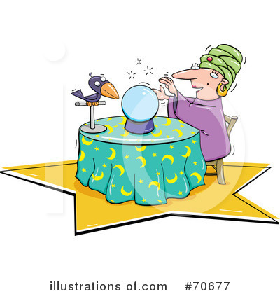 Royalty Free  Rf  Fortune Teller Clipart Illustration  70677 By Jtoons