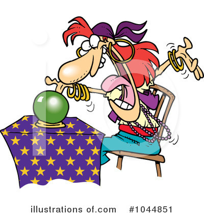 Royalty Free  Rf  Fortune Teller Clipart Illustration By Ron Leishman