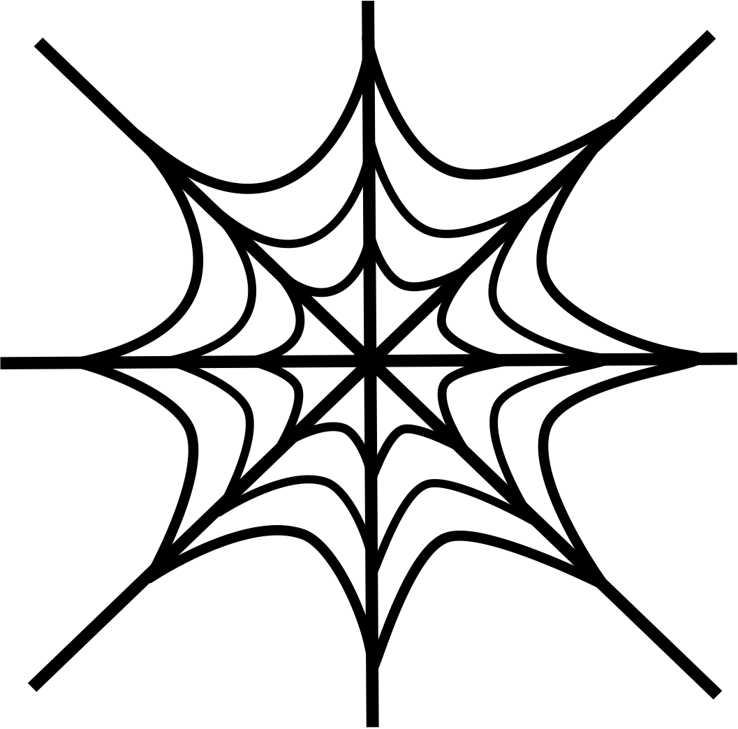 Spider Web Drawings   Clipart Best