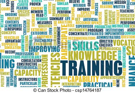 Stock Illustration Of Training Or Upgrading Business Job Skills As Art