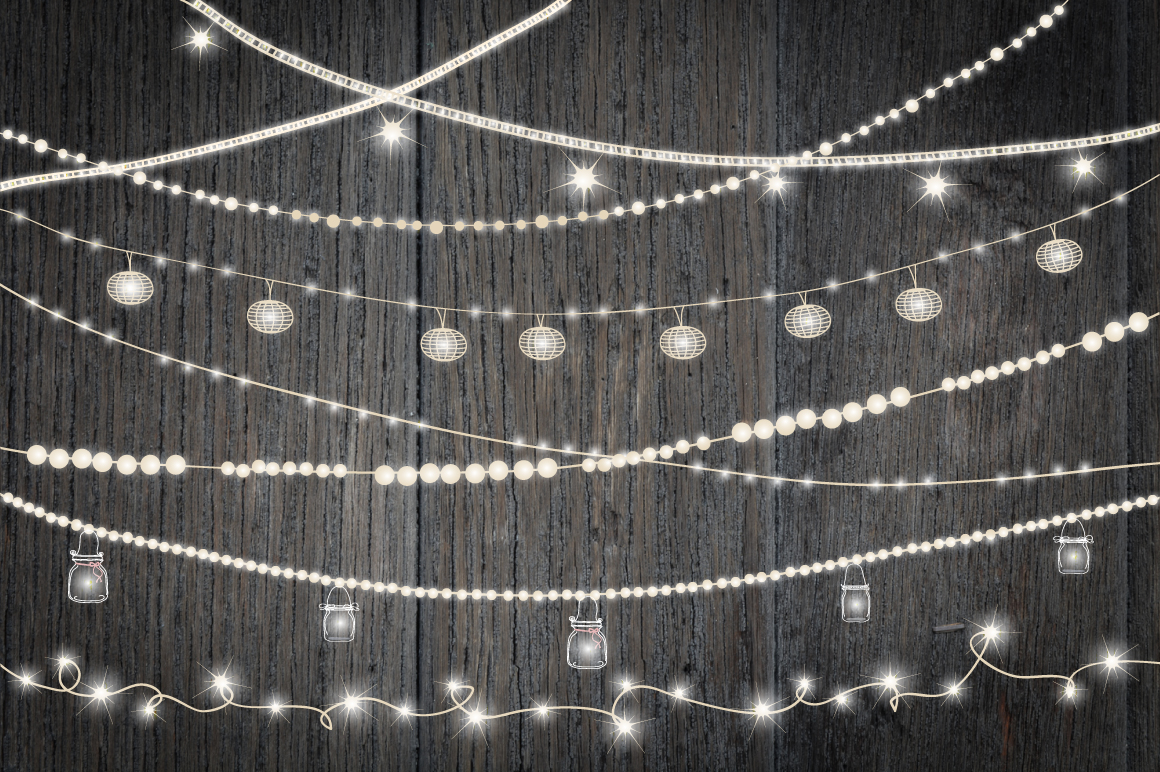 Artisan String Lights : String Of Lights Clipart - Clipart Suggest