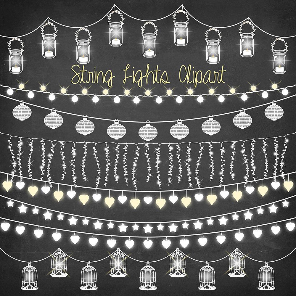 Wedding String Lights Clip Art