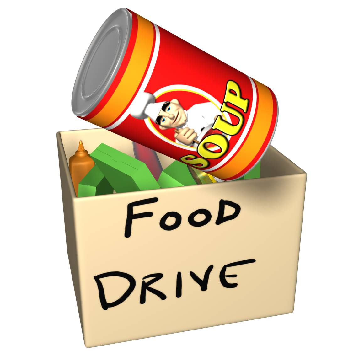 Viewing Gallery For   Canned Food Drive Clip Art