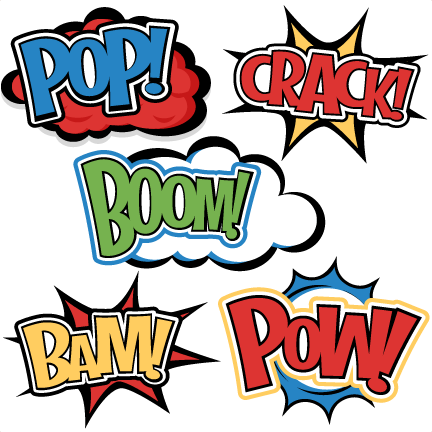 Words Svg Cutting Files For Scrapbooking Superhero Clipart Clip Art
