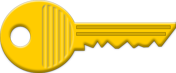 Yellow Key Clip Art At Clker Com   Vector Clip Art Online Royalty