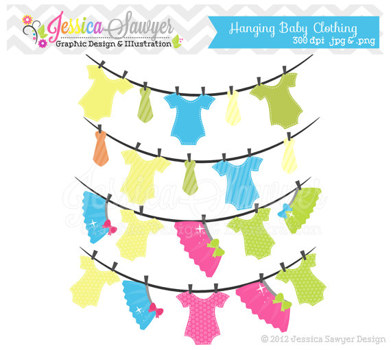 80  Off   Instant Download Hanging Baby Clothing Clipart   Tutu And