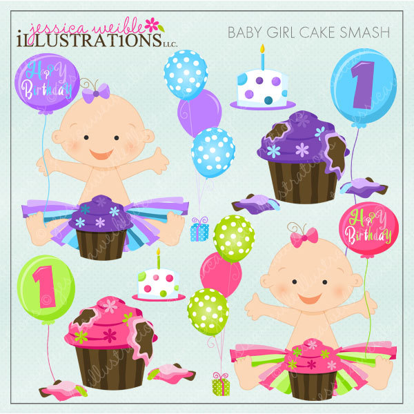 Baby Tutu Clipart Baby Girl Cake Smash Cute