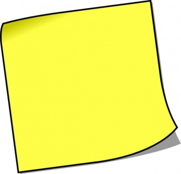 Blank Sticky Note Clip Art Vector   Free Download
