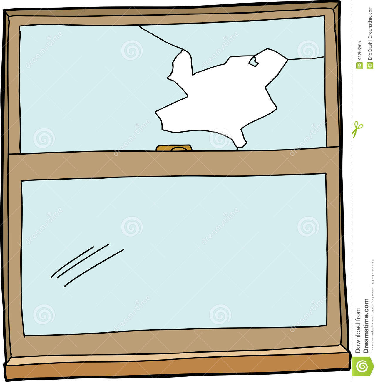 Broken Cartoon Window Stock Vector   Image  41253565