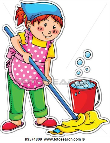 Floor Cleaning Clipart - Clipart Kid