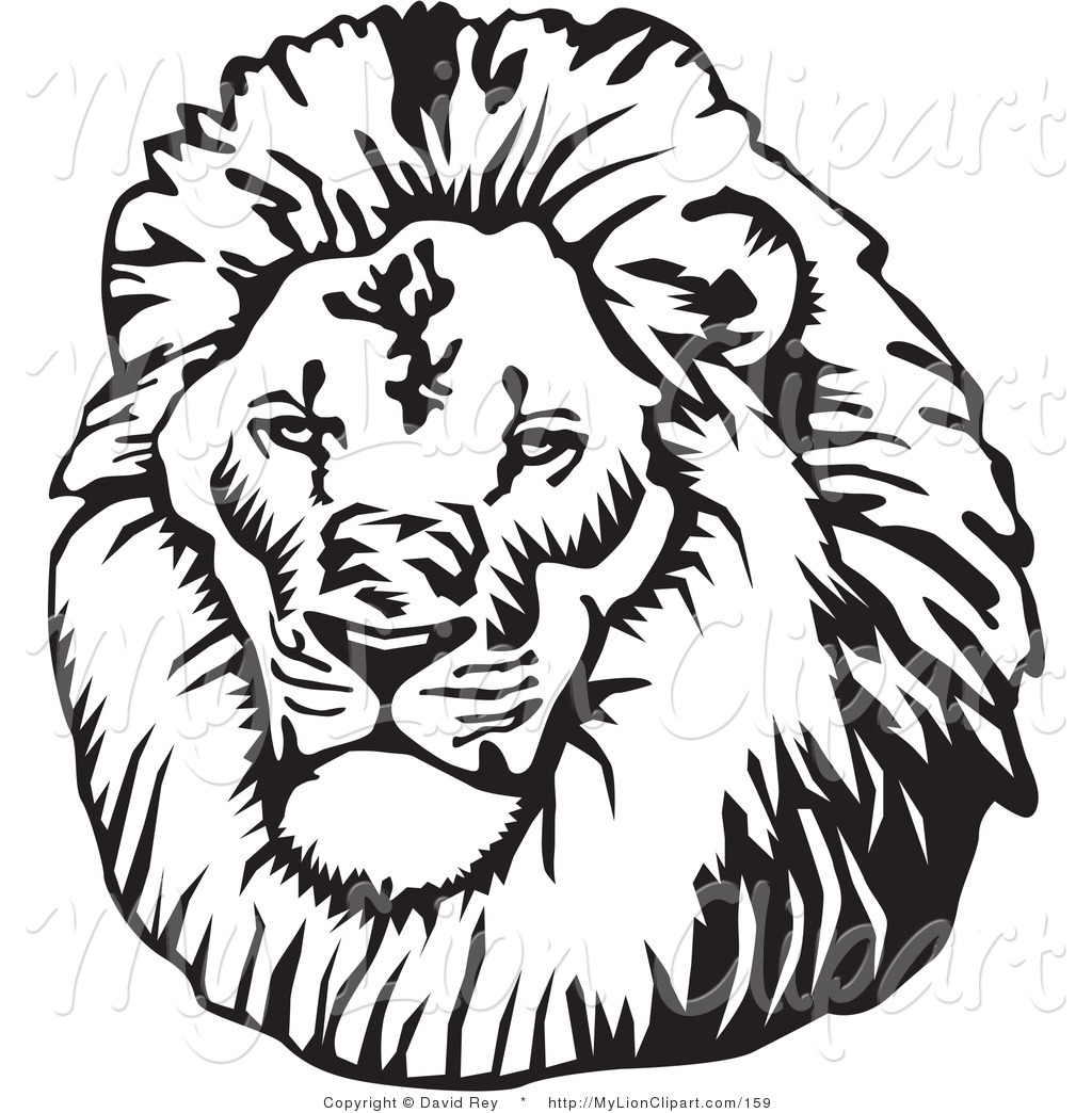 Lion Black And White Clipart - Clipart Kid