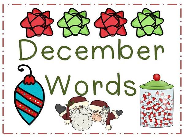 December Word Clipart Pictures December Word Clipart Pictures December