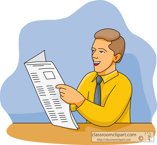 Person Reading Clipart - Clipart Suggest