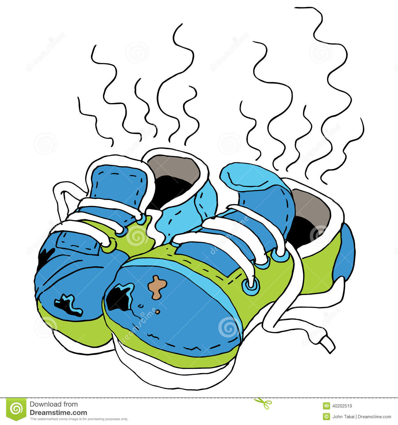 Smelly Old Shoes Stock Vector   Image  40202519