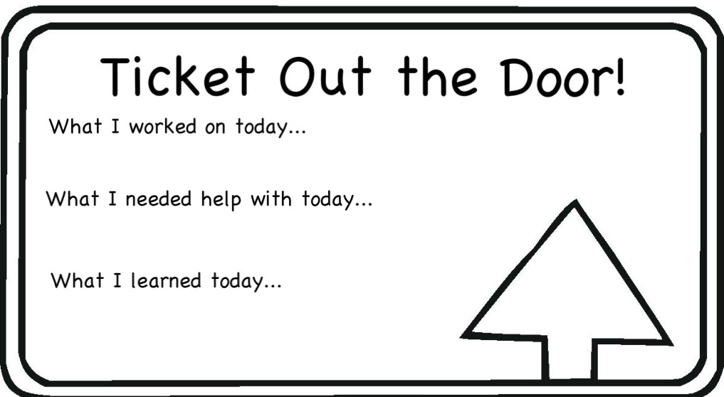exit ticket clipart - photo #9