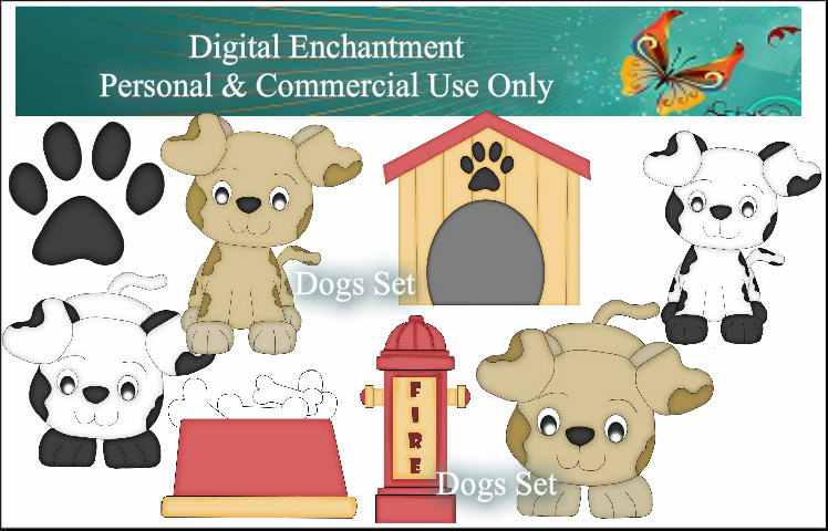 Animal Shelter Building Clipart Dog House Digital Clipart