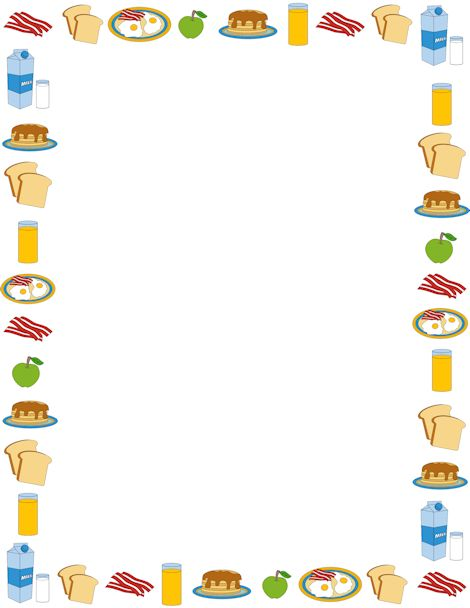 Can Food Border Clip Art Breakfast border breakfast clipart food ...