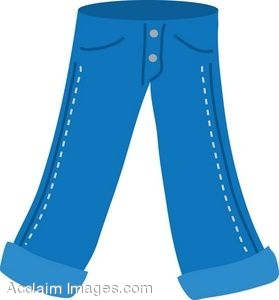 Clip Art Of A Pair Of Jeans