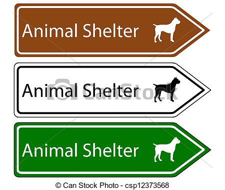 Clip Art Vector Of Sign Animal Shelter Csp12373568   Search Clipart