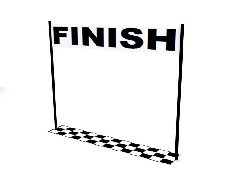 Crossing Finish Line Clipart - Clipart Kid