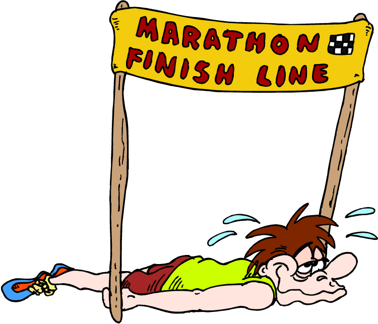 Image result for cartoon strong finish race