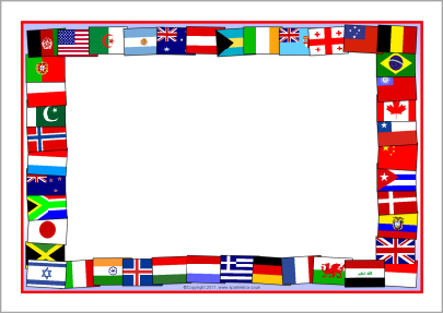 Flags Of The World A4 Page Borders  Sb5827    Sparklebox