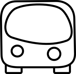 Front Of A Bus Outline Clip Art   Vector Clip Art Online Royalty
